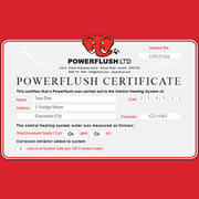 Powerflush Certificates