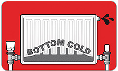 Cold radiators or dirty water present when bleeding