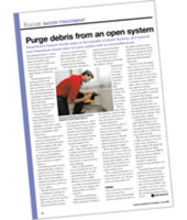 Purge Debris from an Open System